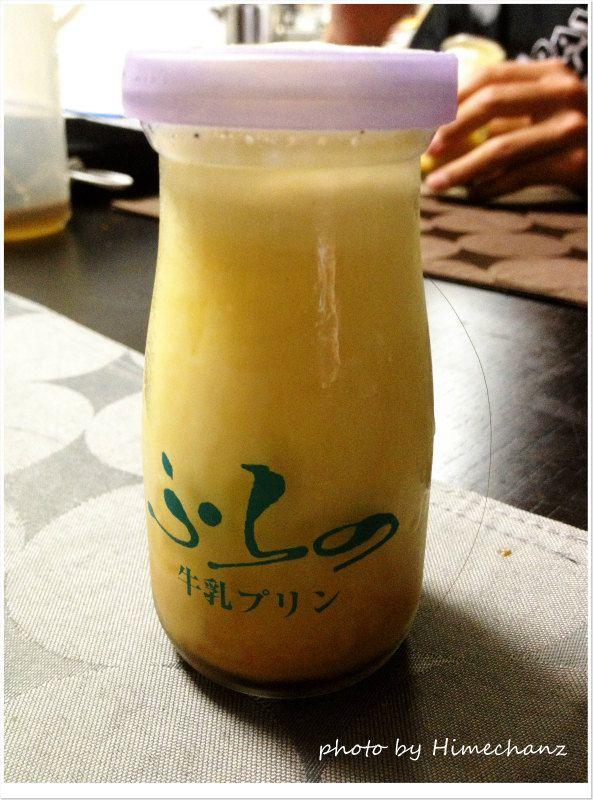瓶がカワイイ!ふらの牛乳プリン photo by iPhone 4S