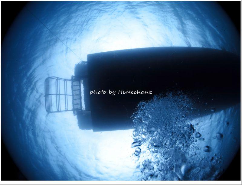 嵐とは思えない静かな海 photo by CANON PowerShot S100
