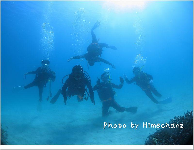 水中集合写真 photo by CANON PowerShot S100