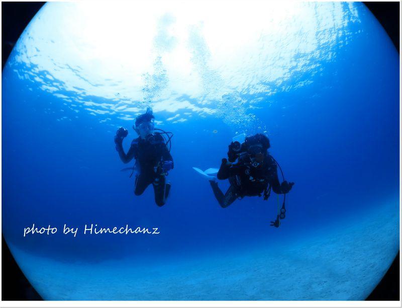 浮遊しているサカサクラゲ撮影中♪ photo by CANON PowerShot S100