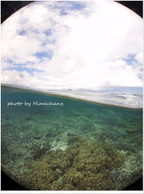 青空とサンゴ礁♪ photo by CANON PowerShot S100