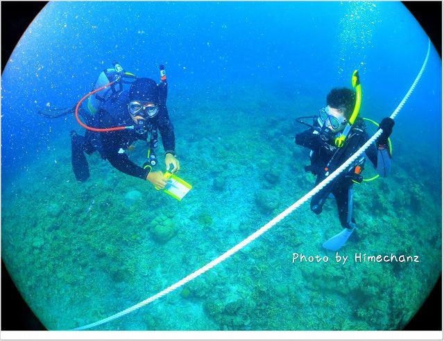 初めての体験ダイビングで緊張?? photo by CANON PowerShot S100