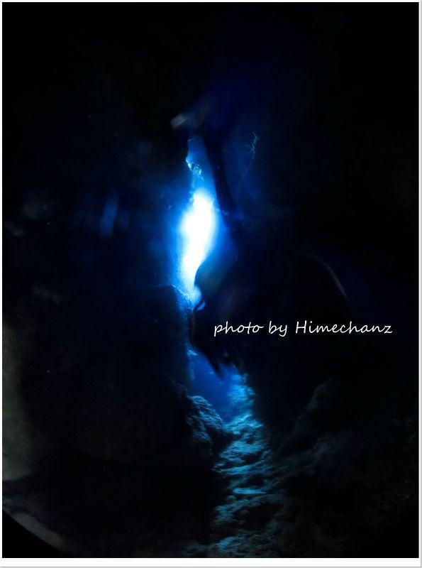 洞窟の光 photo by CANON PowerShot S100