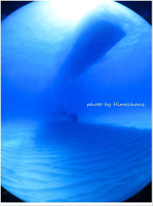 久しぶりの黒島ブルー! photo by CANON PowerShot S100