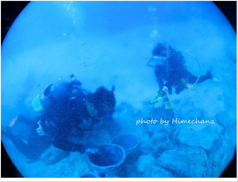 海底温泉、今日もえぇ湯加減でした♪ photo by CANON PowerShot S100