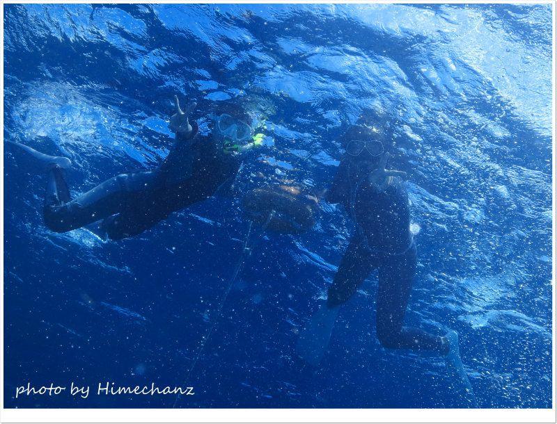 体験ダイビング前にスノーケリングで水慣れです♪ photo by CANON PowerShot S100
