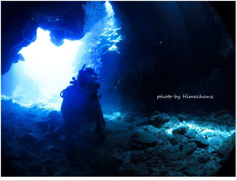 洞窟の光に夢中♪ photo by CANON PowerShot S100