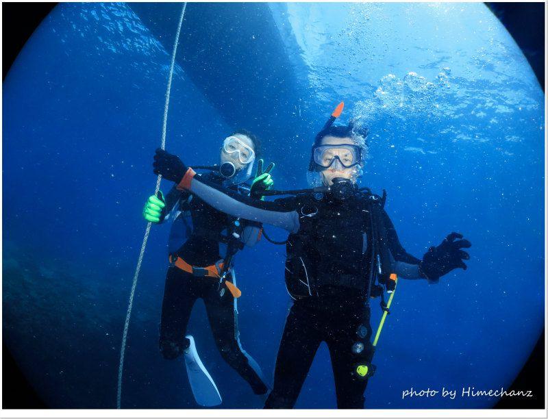 ダイビングの楽しさを改めて感じていただきました♪ photo by CANON PowerShot S100