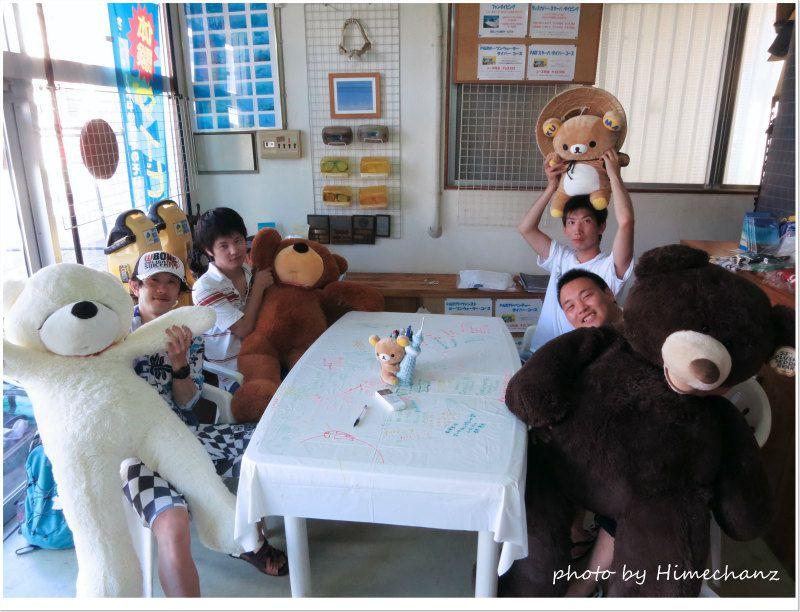 久しぶりにクマたちと記念撮影♪ photo by CANON PowerShot S100