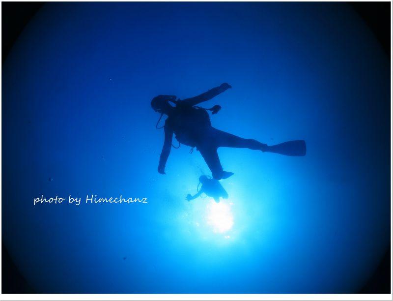 飛んでるみたいにダイビング♪ photo by CANON PowerShot S100
