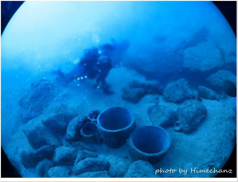 海底から湧く温泉、今日もえぇ湯加減でした! photo by CANON PowerShot S100
