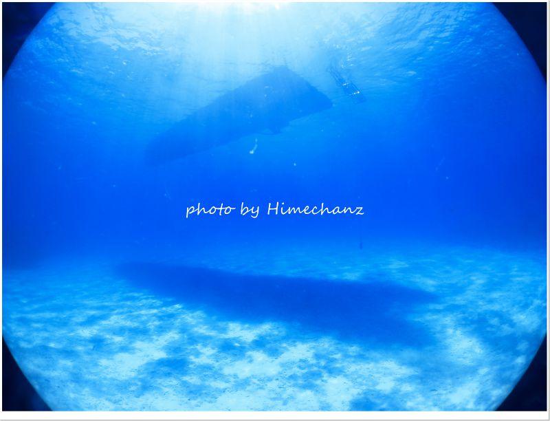 これが黒島ブルーだ!!! photo by CANON PowerShot S100