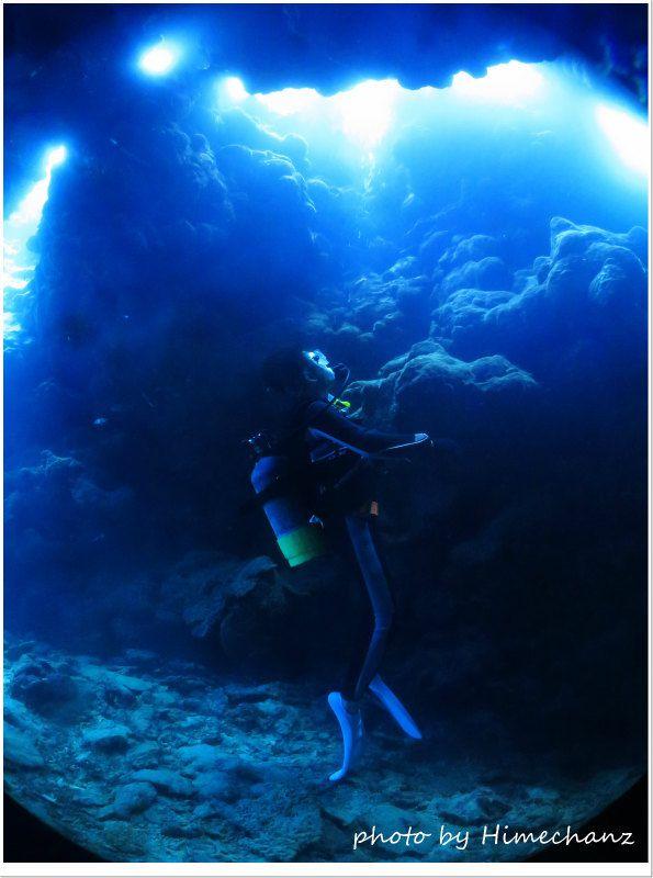 ダイバーにしか見ることができない景色、感動的でしたね♪ photo by CANON PowerShot S100