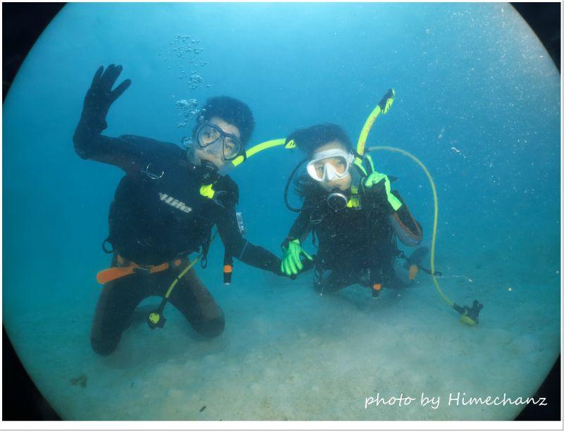 無事にお二人でダイビングを楽しめて良かったですね!!! photo by CANON PowerShot S100