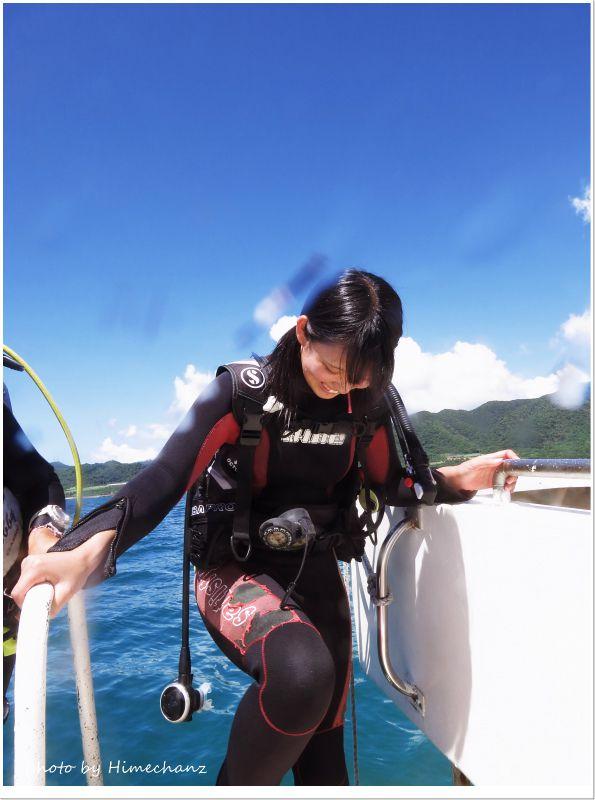 緊張するけど早く海に入りたい!モードのSさん♪ photo by CANON PowerShot S100