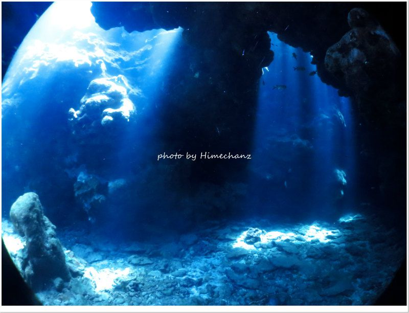 狙いどおりの洞窟の光! photo by CANON PowerShot S100