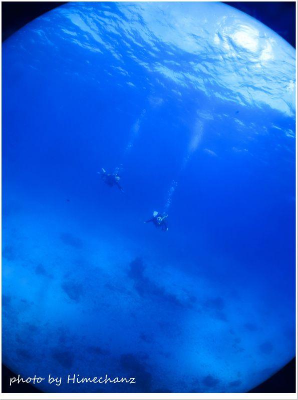 泳いでるだけで超楽しい透明度♪ photo by CANON PowerShot S100