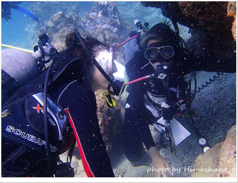 生き物観察しながらダイビングの遊び方も学びます♪ photo by OLYMPUS STYLUS TG-2 Tough