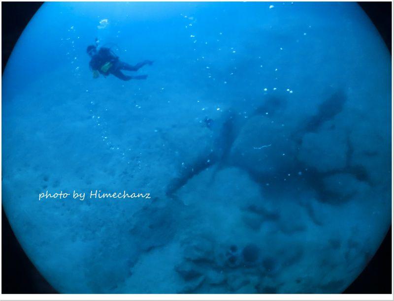 竹富島の海底温泉へ♪ photo by CANON PowerShot S100