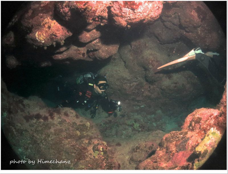洞窟大好きT様、楽しんでいただけたかな♪ photo by CANON PowerShot S100