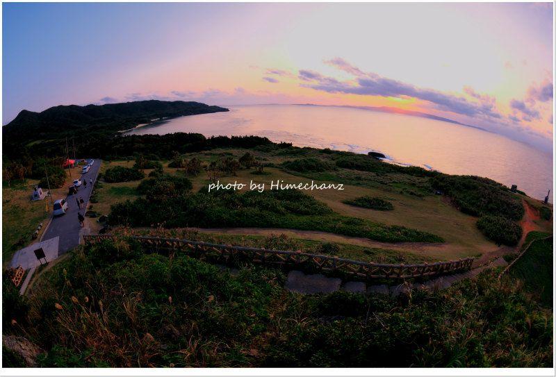 沢山の人が夕日を見に来ていました♪ photo by NIKON D300