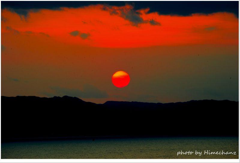 西表島に沈む夕日にうっとり♪ photo by NIKON D700
