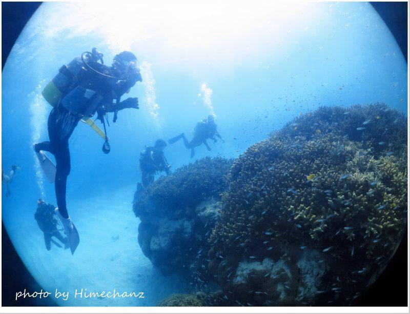 お正月に極上サンゴポイントに来れるなんて♪ photo by CANON PowerShot S100