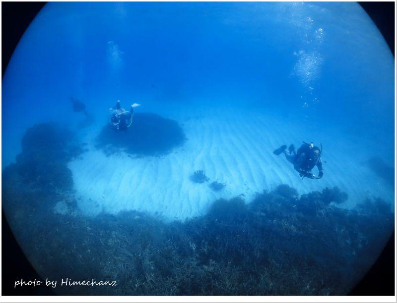 透明度の高い今日の浜島東でした♪ photo by CANON PowerShot S100