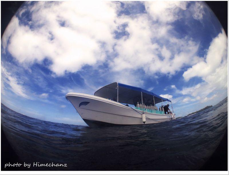 青空のもと、気持よくダイビングできました♪ photo by CANON PowerShot S100
