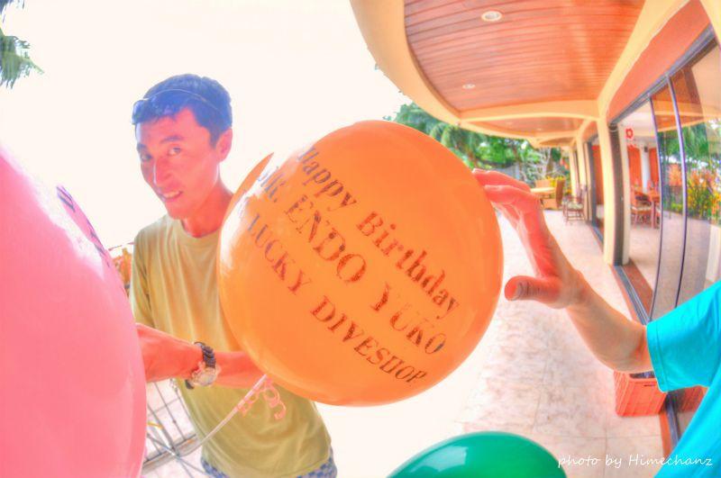 名前入りのバルーンまでご用意いただいて、ありがとうございました、こうたさん! photo by Nikon D300