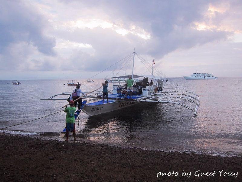いよいよダイビング最終日!どんな海が待っているかワクワクです♪ photo by CANON PowerShot S90