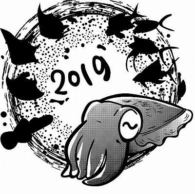 2019年新しいTシャツデザインはコブシメ出し☆